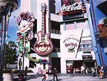 Lo-lo-res photo of the Hard Rock Cafe Osaka Universal Studios
