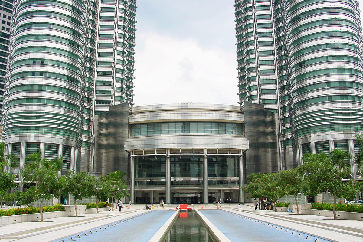 The entrance to Petronas Towers