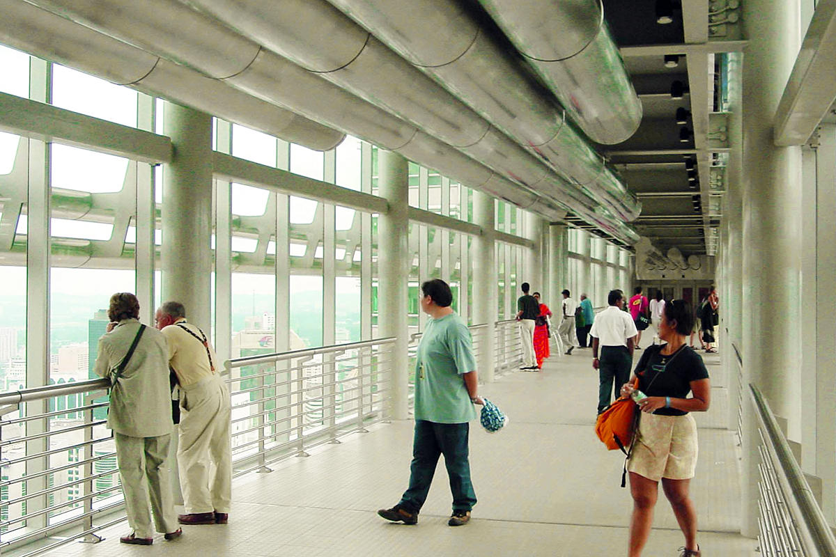 The observation deck of Petronas Towers