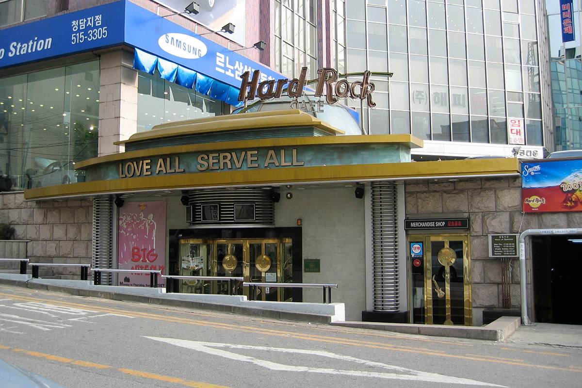 Hard Rock Cafe in Seoul, Korea.