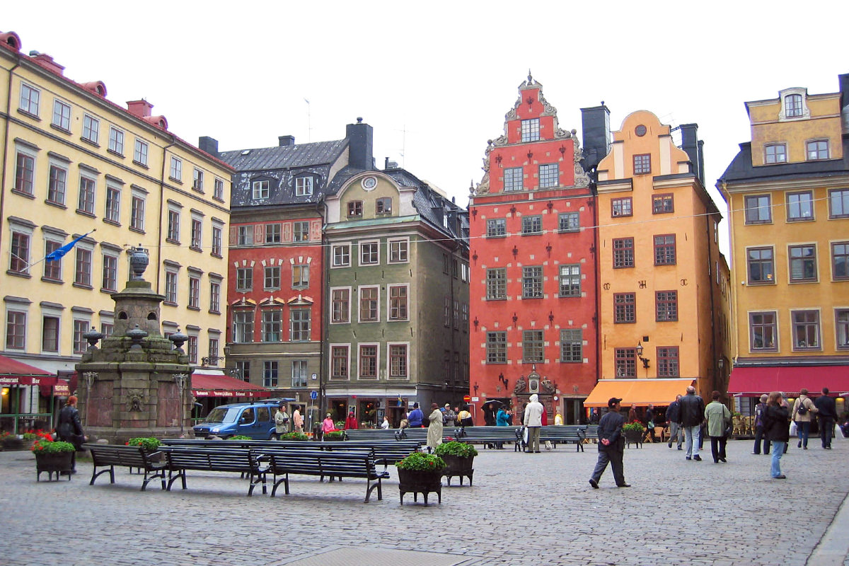A Town Square in Stockholm