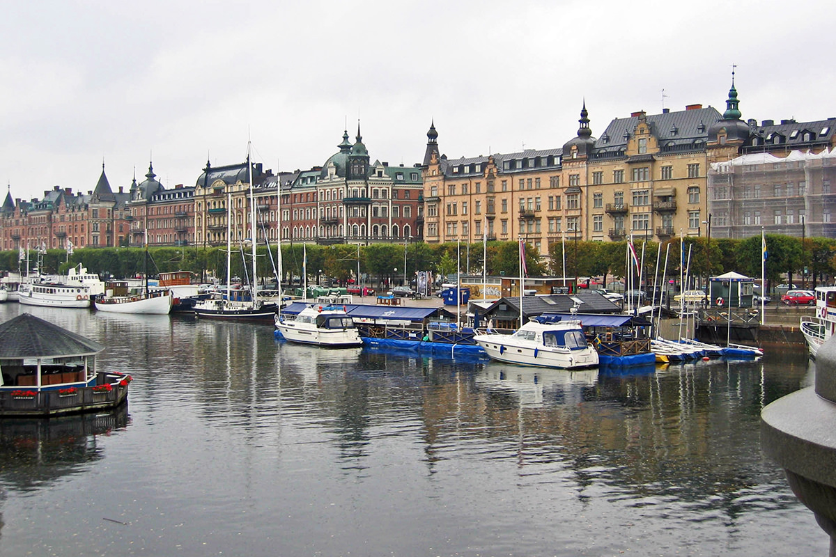A Photo of Stockholm Near the Water