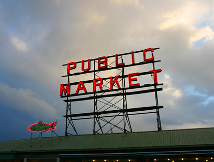 Pike Place Market Sunset