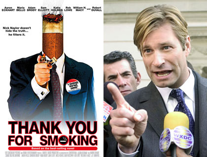 Aaron Eckhart Thank You for Smoking