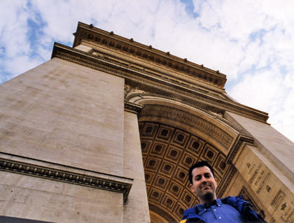 Dave at the Arc de Triomphe!