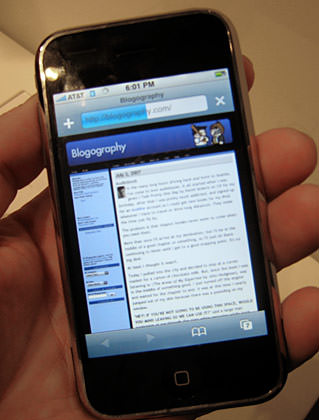 iPhone Blogography
