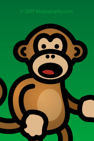 Bad Monkey iPhone Wallpaper