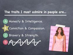 Traits I admire...