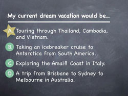 Dave's dream vacation...