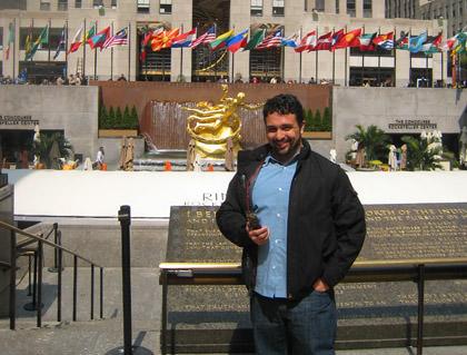 Vahid at Rockefeller Plaza