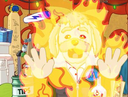 Burning Dog!
