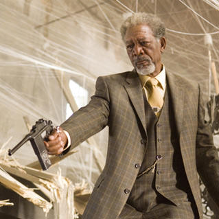 Morgan Freeman in Wanted.