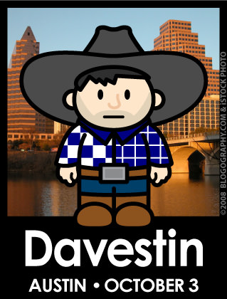DAVETOON: Davestin: Austin Event on October 3rd.