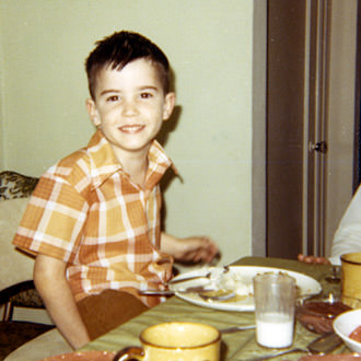 Young Davy Eating Dinner