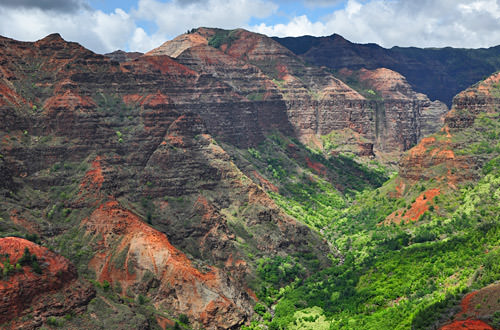 Helicopter View: Waimea Canyon
