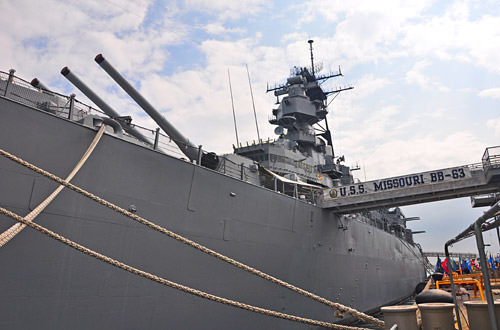 The USS Missouri