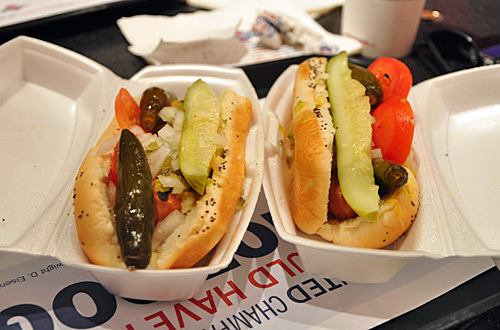 Dueling Veggie Chicago Hot Dogs!