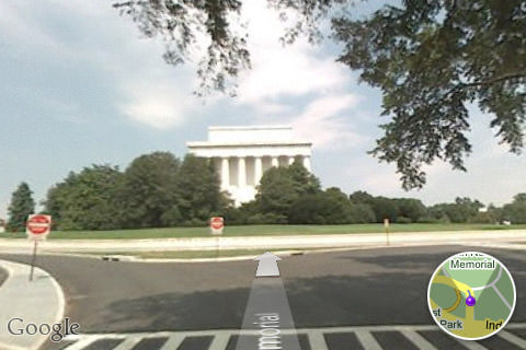 Google Maps Street View: Lincoln Memorial