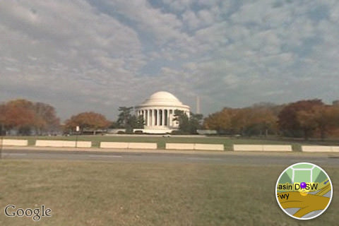 Google Maps Street View: Jefferson Memorial