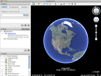 Google Earth Interface