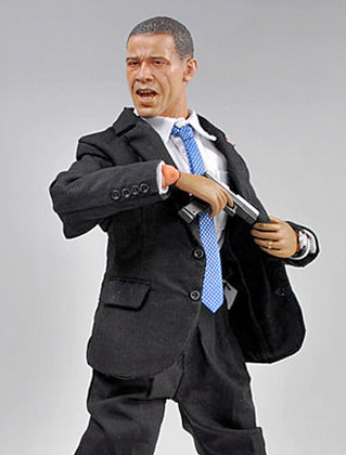 Obama Action Figure: PISTOL!!
