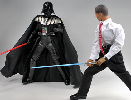 Obama Action Figure: LIGHT SABER!!