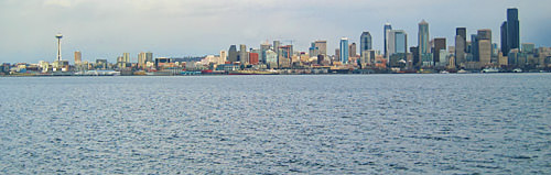 View of Seattle Pano from Alki