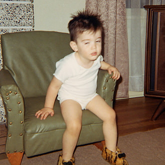 Davey in Tiger Slippers
