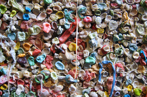 Gum Wall at Post Alley