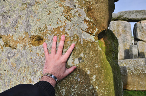 My hand on Stonehenge.