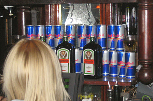 Jager and Red Bull Display at The Nag's Head