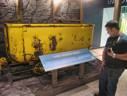 Vahid exposed to a uranium mining car.