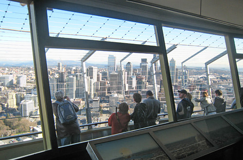 View out the Space Needle