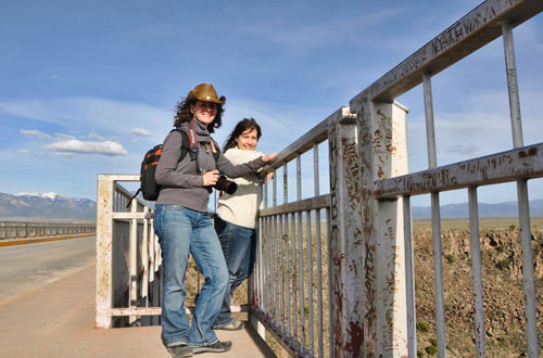 Jenny and Mel on the Rio Grande Bridge