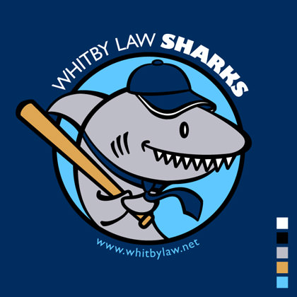 Whitby Law Sharks Finished Logo