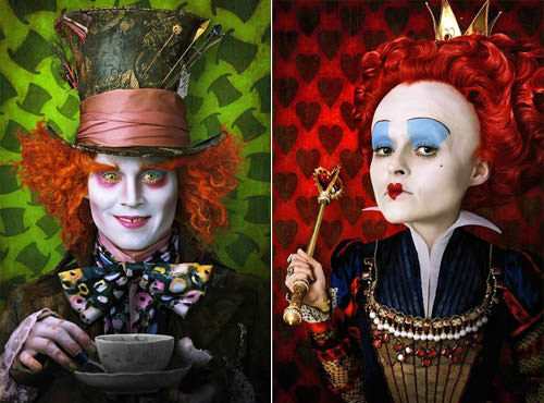 Depp Mad Hatter plus Carter Red Queen