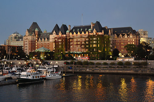 Empress Hotel at Night