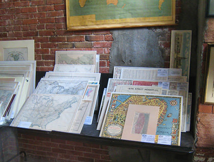 Old Map Gallery Window