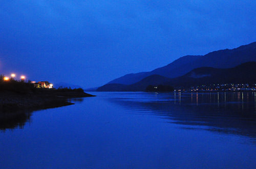 Juneau Harbor at Night