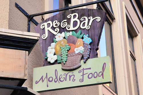 Re-Bar Modern Food Sign