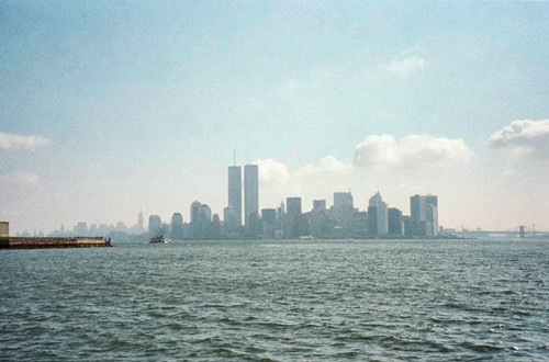 World Trade Center from the Statue of Liberty