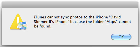 Cannot sync iPhone because