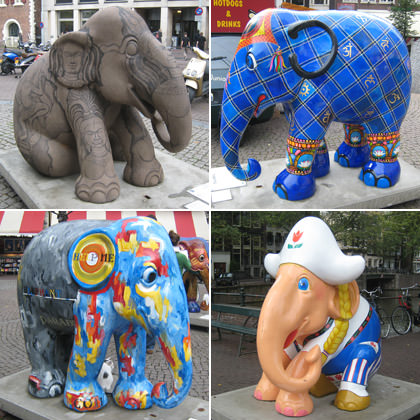 Elephants in Amsterdam