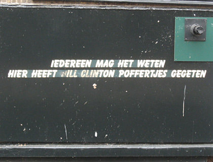 Bill Clinton at Poffertjes Here!