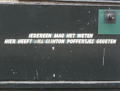 Bill Clinton at Poffertjes Here!