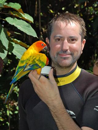 Dave with a Bird
