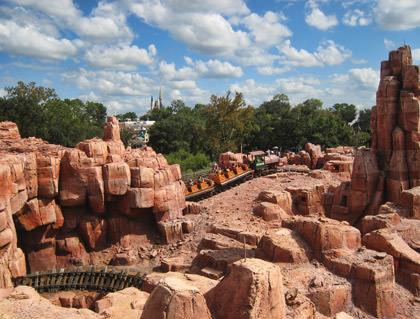 Walt Disney World Big Thunder Mountain Railroad Rollercoaster