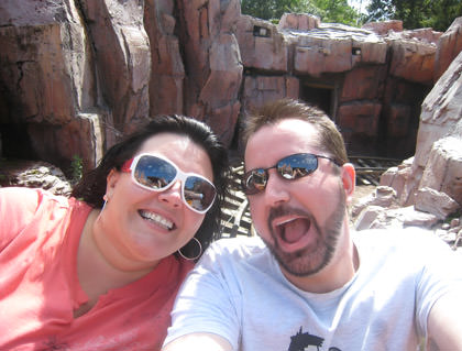 Dave & Hilly on Big Thunder at Walt Disney World