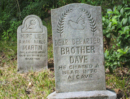 Tombstones at Walt Disney World's Haunted Mansion