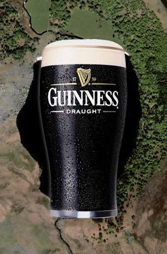 It's a lake that looks like a pint of Guinness!